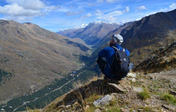 Кавказские горы. Поход на гору