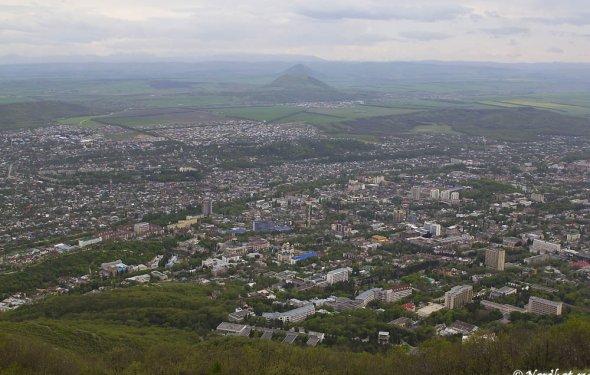 Вид с Машука на Пятигорск