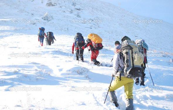 Поход в горы зимой— Photo by